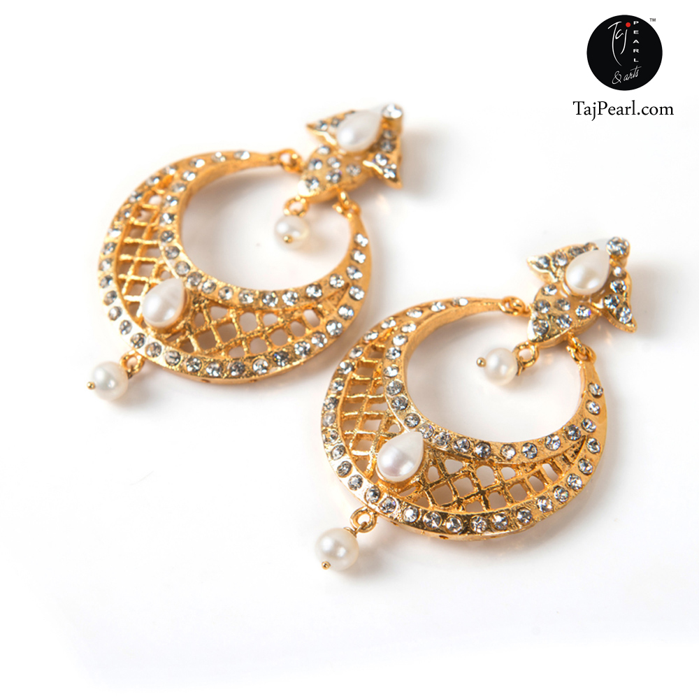 Gold Plated Jewellery - Pearl Earrings